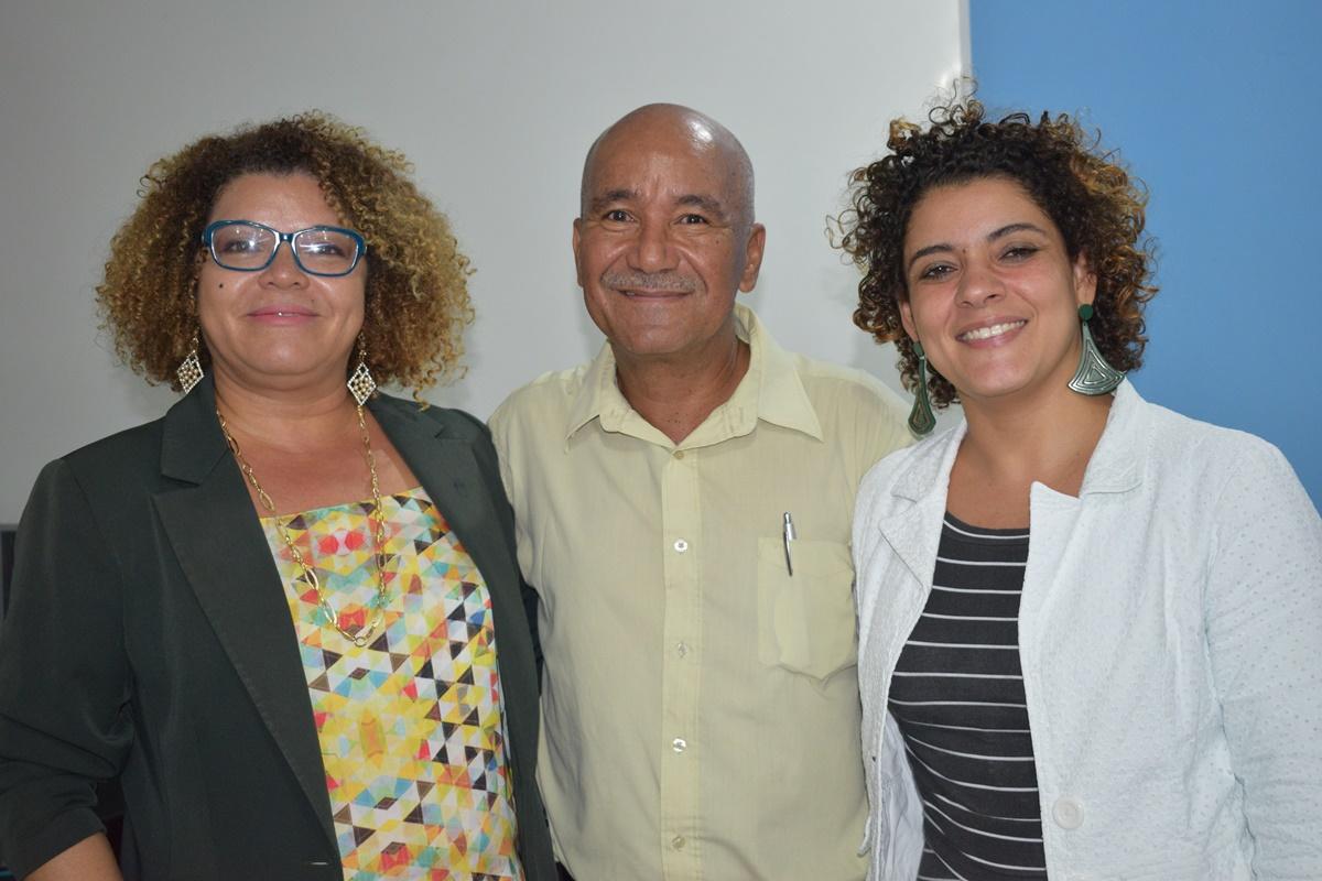 Leone Silva, Helcias Pereira e Queila Brito